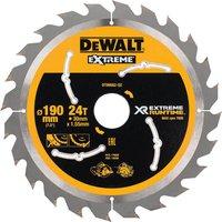 DeWalt Extreme Runtime Circular Saw Blade 190mm 24T 30mm