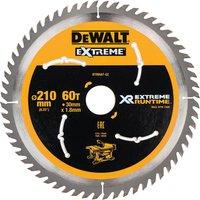 DeWalt Extreme Runtime Circular Saw Blade 210mm 60T 30mm
