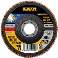 DeWalt Extreme Runtime Flap Disc 125mm 125mm 80g Pack of 1