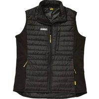 Dewalt Force Black Lightweight Padded Gilet Black 2XL