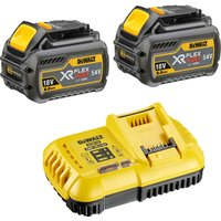 DeWalt 54v XR Cordless FLEXVOLT Twin Li ion Battery and Fast Charger Pack 6ah