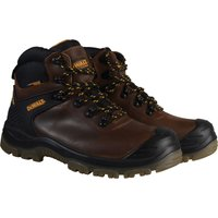 DeWalt Mens Newark S3 Waterproof Safety Hiker Boots Brown Size 8