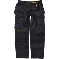 DeWalt Pro Tradesman Work Trousers Black 38 33