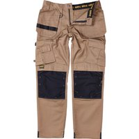 "Dewalt Pro Tradesman Work Trousers Stone 36"" 31"""
