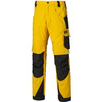 "Dickies Pro Trousers Yellow / Black 42"" 33"""