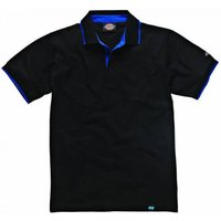 Dickies Mens Anvil Polo Shirt Black L