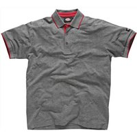 Dickies Mens Anvil Polo Shirt Grey M