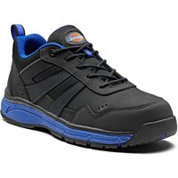 Dickies Mens Emerson Safety Trainers Black / Royal Blue Size 10