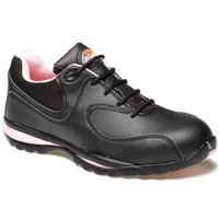 Dickies Ladies Ohio Safety Trainers Black / Pink Size 4