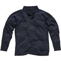 Dickies Mens Flame Retardant Long Sleeve Polo Shirt Navy 2XL