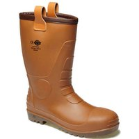 Dickies Groundwater Safety Wellington Boots Brown Size 8