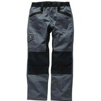 Dickies Mens Industry 260 Trousers Grey / Black 30 32