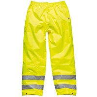 Dickies Mens High Vis Highway Safety Trousers Yellow 2XL
