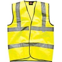 Dickies High Vis Safety Highway Waistcoat Yellow 4XL