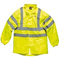Dickies Mens High Vis Lighweight Waterproof Jacket Yellow L