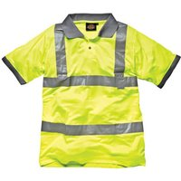Dickies Mens High Vis Safety Polo T Shirt Yellow XL