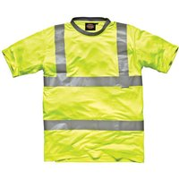 Dickies Mens High Vis Safety T Shirt Yellow S