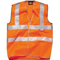 Dickies High Vis Safety Highway Waistcoat Orange L