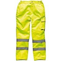 Dickies Mens High Vis Trousers Yellow 2XL