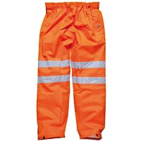 Dickies Mens High Vis GO/RT Over Trousers Orange S