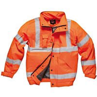 Dickies Mens High Vis GO/RT Bomber Jacket Orange XL