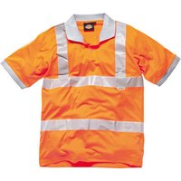 Dickies Mens High Vis GO/RT Polo Shirt Orange M