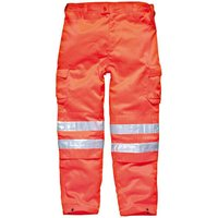 Dickies Mens High Vis GO/RT Safety Trousers Orange S 32""