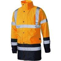 Dickies Mens High Vis Parka Safety Jacket Orange / Navy 2XL