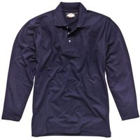 Dickies Mens Long Sleeve Polo Shirt Navy L