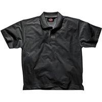 Dickies Mens Short Sleeve Polo Shirt Black L