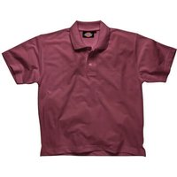 Dickies Mens Short Sleeve Polo Shirt Burgundy 2XL