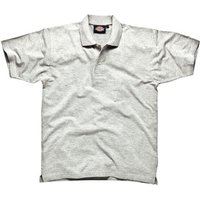 Dickies Mens Short Sleeve Polo Shirt Grey S