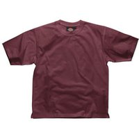 Dickies Mens Crew T Shirt Burgundy 2XL