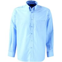 Dickies Mens Oxford Weave Long Sleeve Shirt Blue Size 16