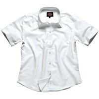 Dickies Ladies Oxford Weave Short Sleeve Shirt White 22