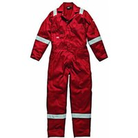 Dickies Mens Lightweight Cotton Overalls Red M