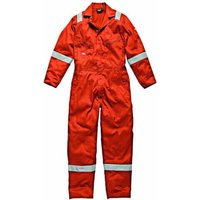 Dickies Mens Cotton Overalls Orange XL
