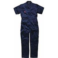 Dickies Mens Lightweight Cotton Short Sleeve Overall Navy XL