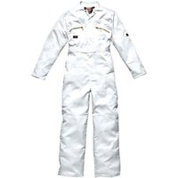 Dickies Mens Redhawk Overalls White 38 32