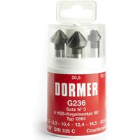 Dormer G2363 6 Piece HSS Straight Shank 90  Countersink Set