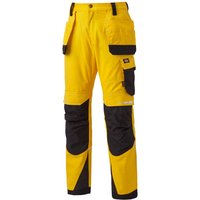 "Dickies Pro Holster Trousers Yellow / Black 36"" 30"""