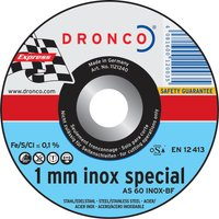 Dronco AS 60 T INOX Thin Stainless Steel Cutting Disc 115mm Pack of 1