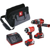 Einhell Power X Change 18v Cordless Combi Drill & Impact Driver Kit 1 x 2ah & 1 x4ah Li-ion Charger Bag