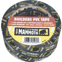 Everbuild Mammoth Builders PVC Black Tape Black 50mm 33m