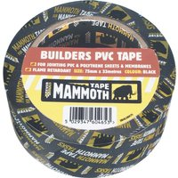 Everbuild Mammoth Builders PVC Black Tape Black 75mm 33m