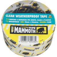 Everbuild Mammoth Weatherproof Clear Tape Clear 50mm 10m