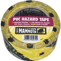 Everbuild PVC Hazard Tape Black / Yellow 50mm 33m