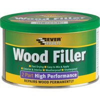 Everbuild 2 Part High Performance Wood Filler Medium Stainable 500g