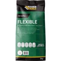 Everbuild Universal Flexible Tile Grout Ivory 5kg