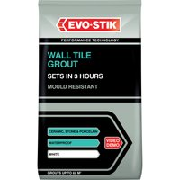 EvoStik Tile A Wall Fast Set Grout White 3kg